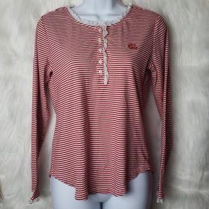 Lauren Ralph Lauren Red & White Striped Top